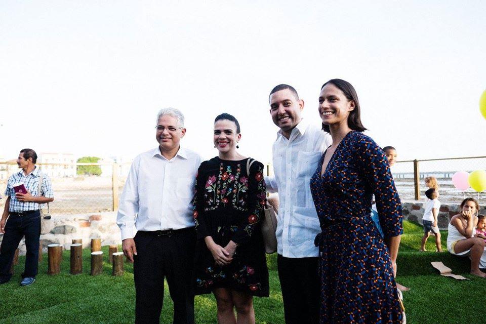 Alcalde, José Isabel Blandón Figueroa; Directora de Patrimonio Histórico, María Isabel Arrocha; Director de AVACA, Fernando Díaz Jaramillo y Presidente de AVACA, Patrizia Pinzon en la inauguración del parque en 2017