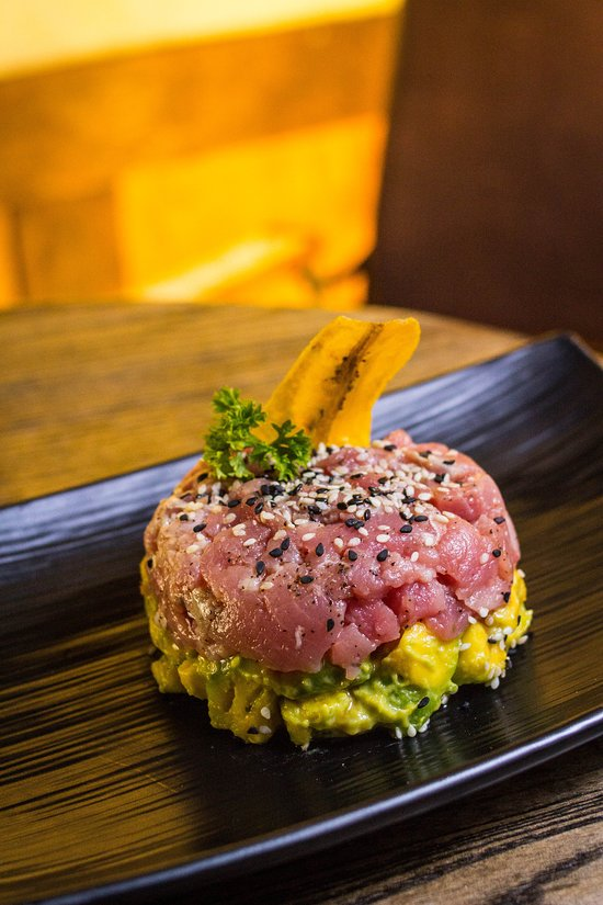 Tuna tartar at Compadre Barbers & Rooftop Club Panama