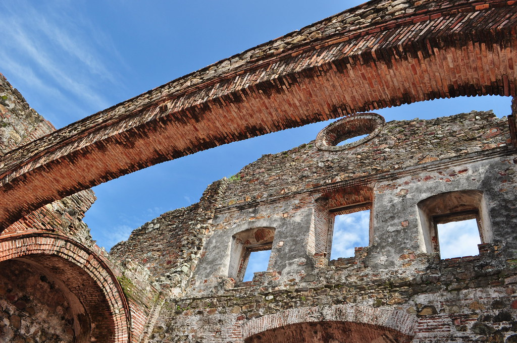 The flat arch of the Santo Domingo church served to prove that there is little seismic activity in Panama