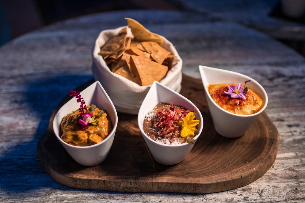 Dip trio is another popular sharing dish at Numen Gastro Lounge