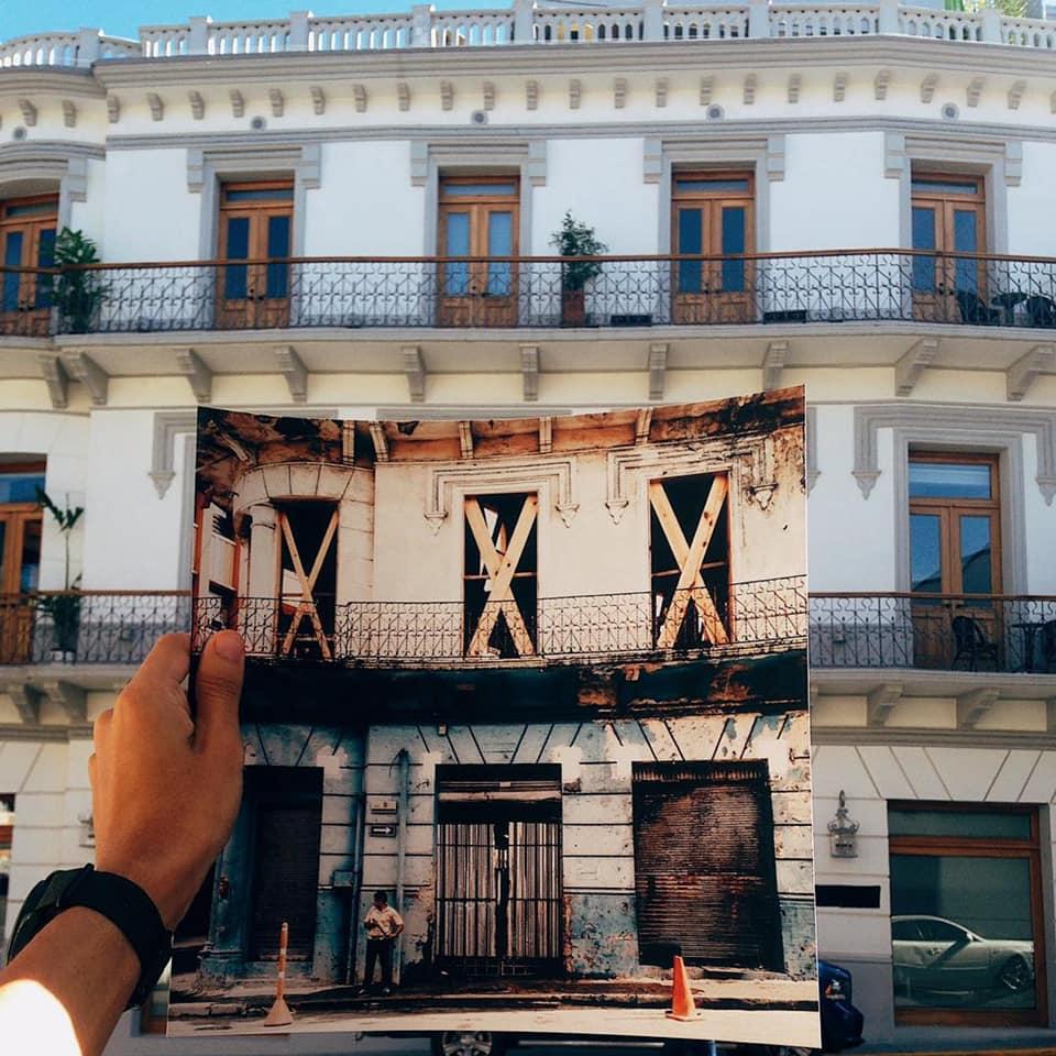 Antes y después de la renovación de La Concordia Boutique Hotel
