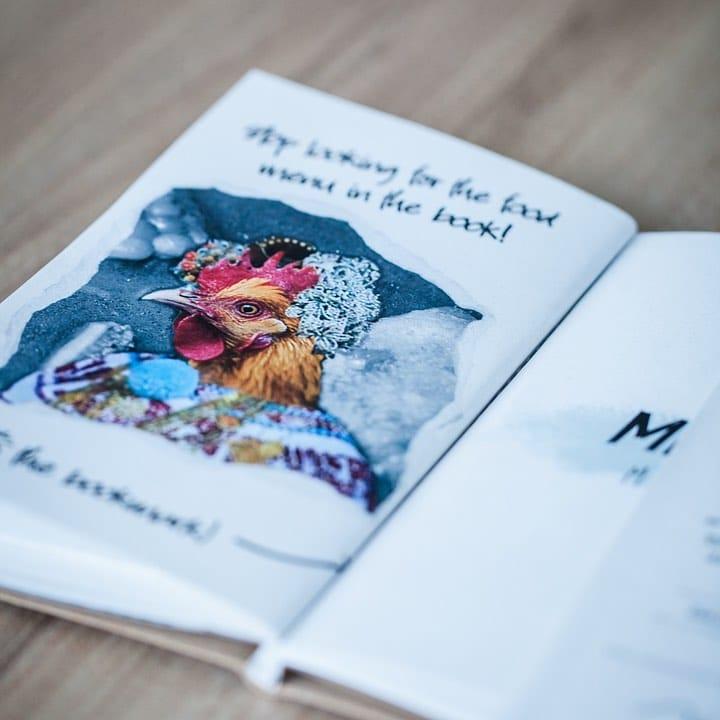 El menú del restaurante Donde José viene en un libro con dibujos