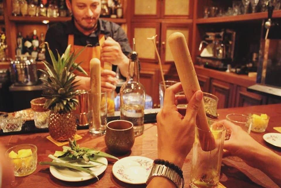 Mixology classes are done on a regular basis at Pedro Mandinga Rum Bar