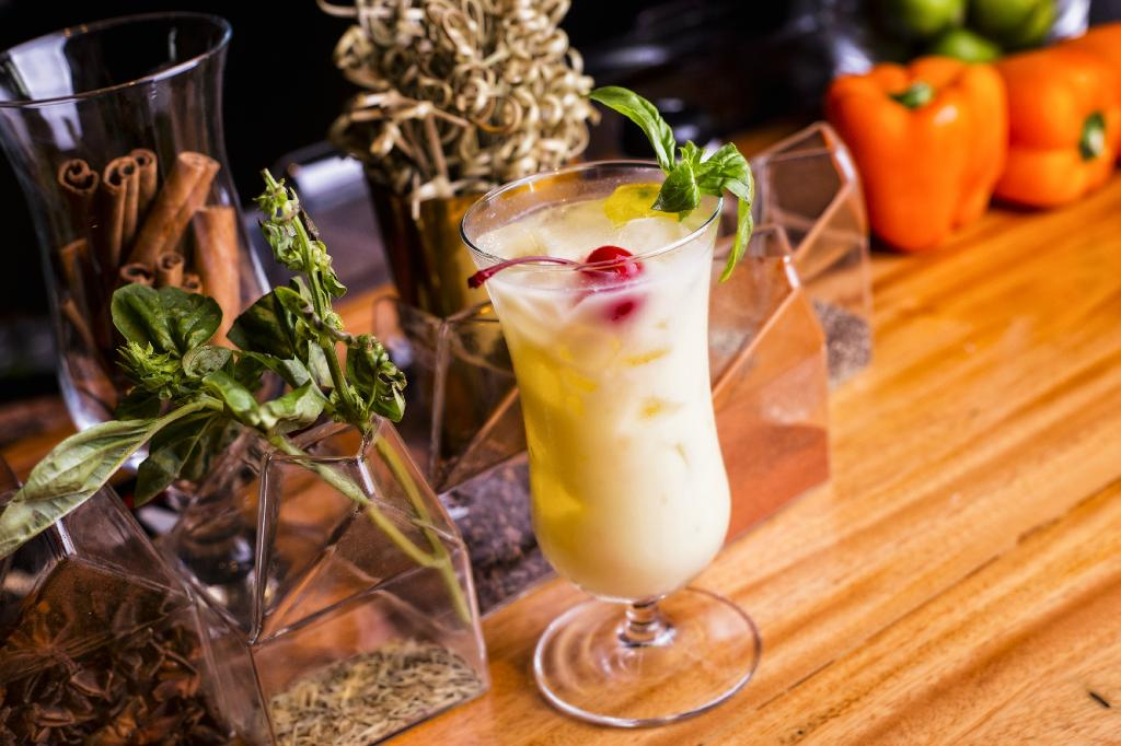The artisanal drinks of the Caliope Restaurant use fresh local ingredients