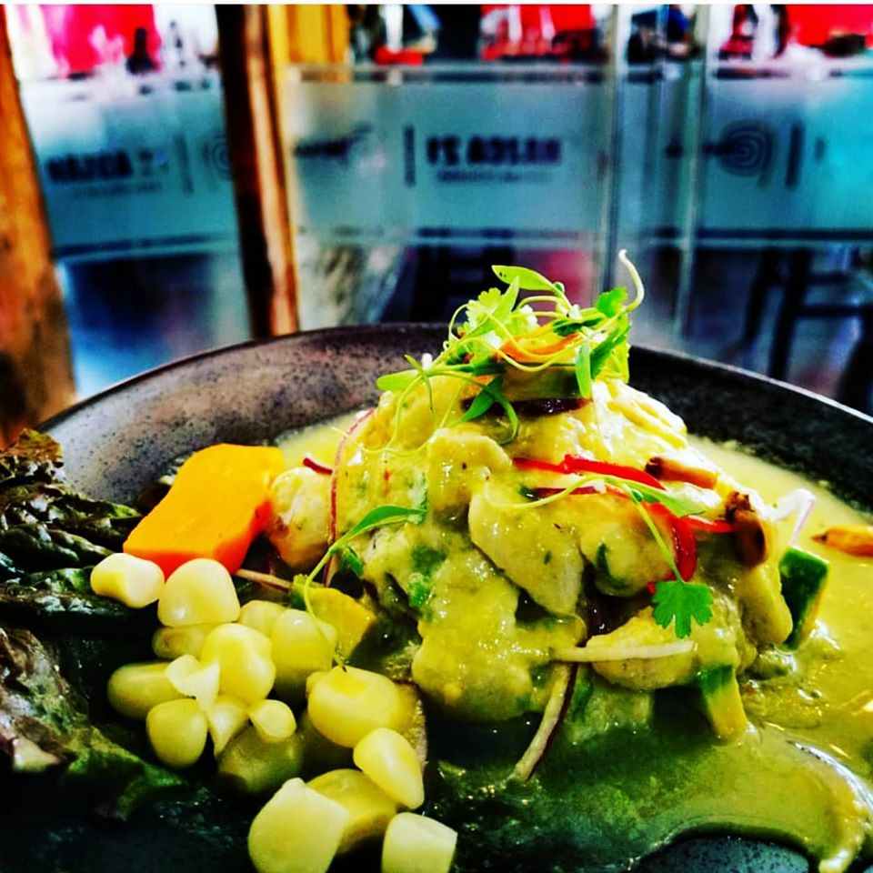 Sea bass ceviche with tiger milk and avocado from the Nazca 21 restaurant