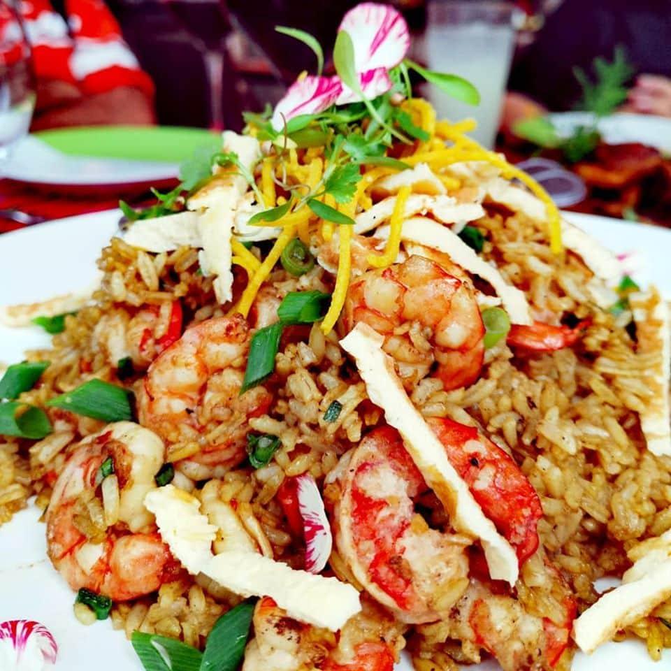 Red shrimp chaufa in the restaurant Nazca 21