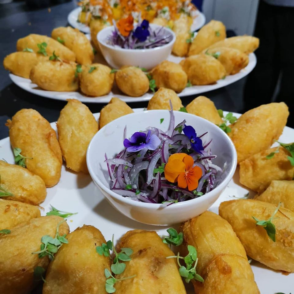 Potatoes stuffed with sauteed loin from the Nazca 21 restaurant