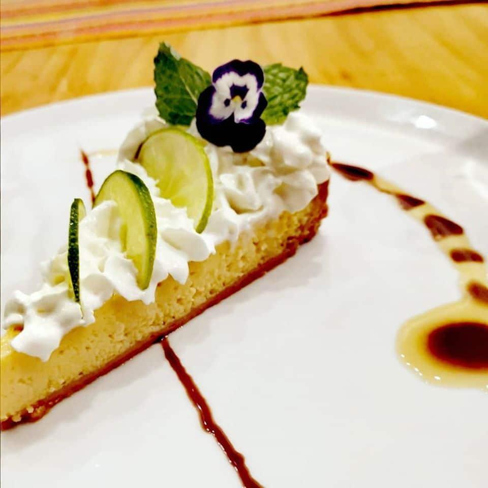 Delicious lemon pie from the restaurant Nazca 21