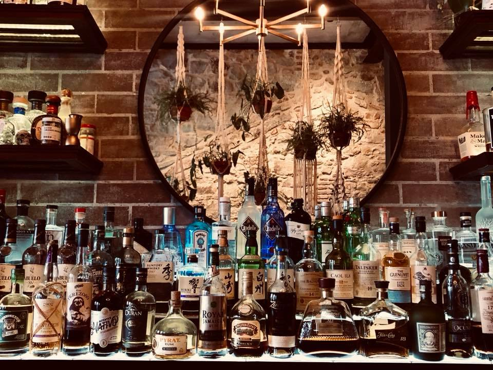 Mula Bar offers a large variety of distilled liquors