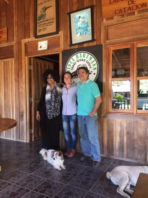 Sherman couple visiting Finca Hatmann in Volcan, Panama