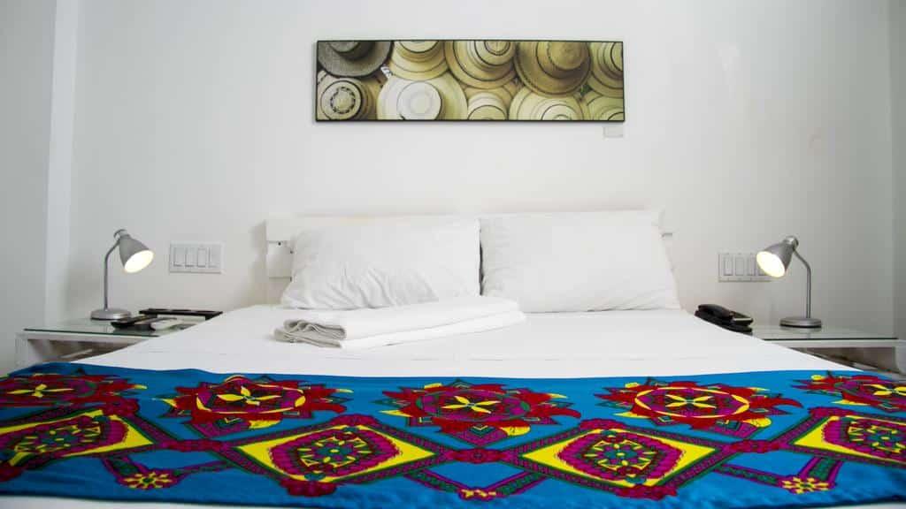 cama del Hotel Gatto Blanco Party