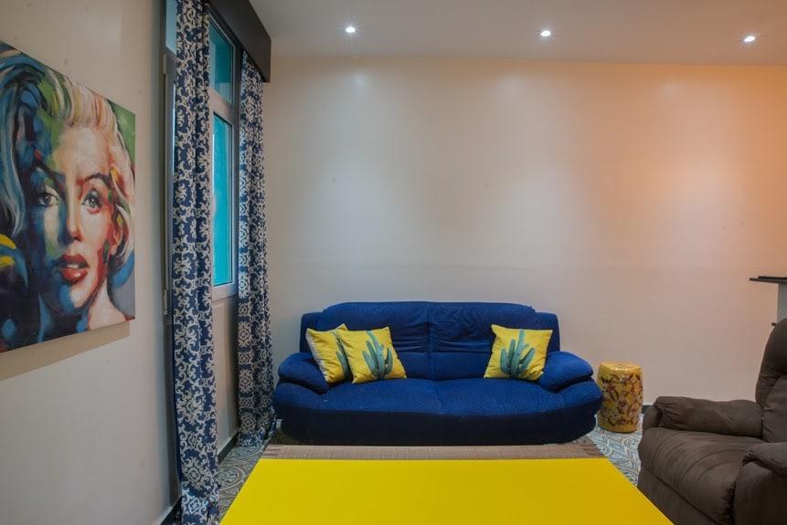 living room in apartment 1A in Flor de Lirio Casco Viejo