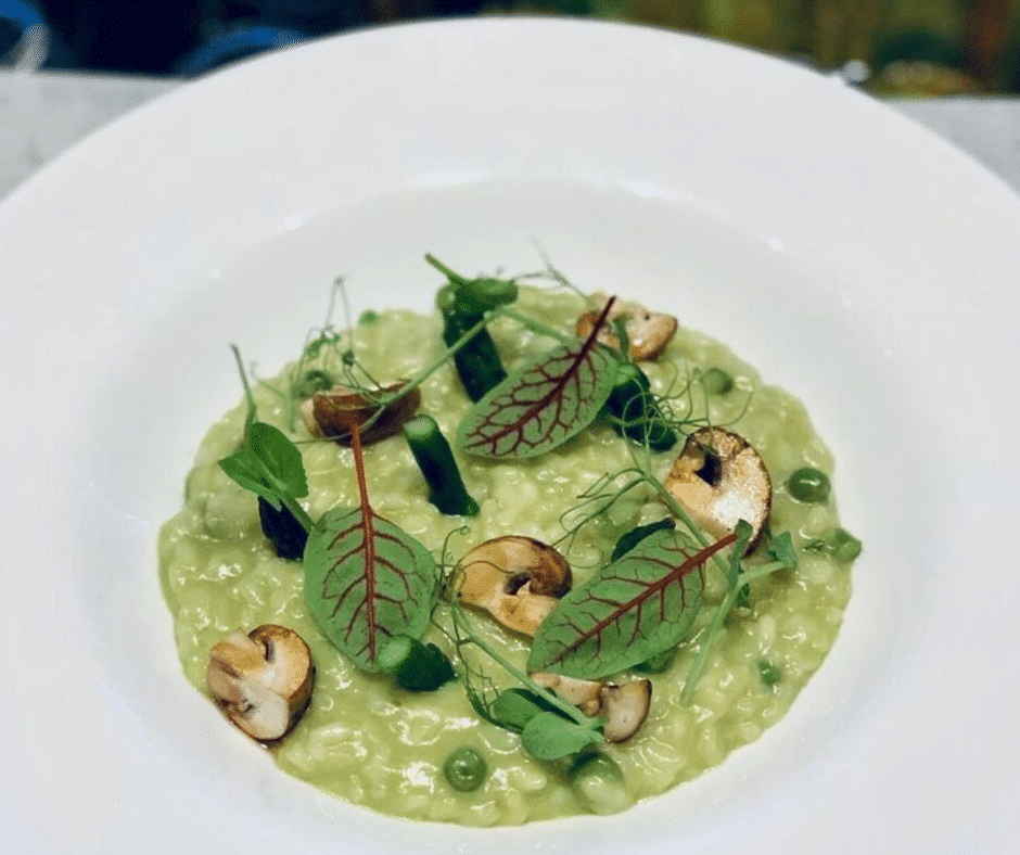 Risotto in the MED restaurant of Villa Palma Boutique Hotel