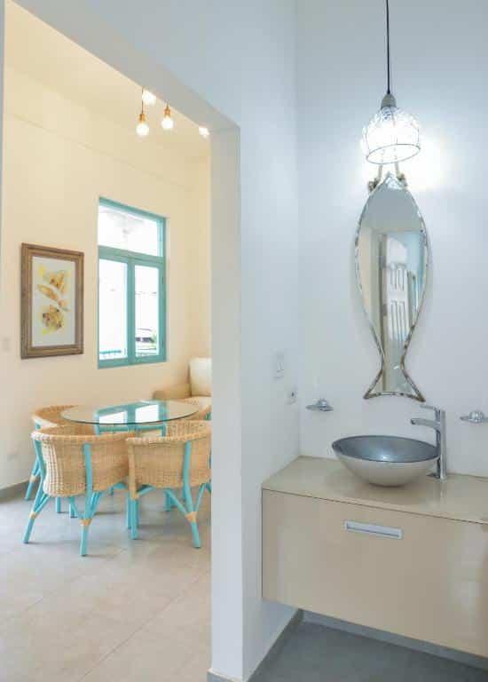 bathroom sink of apartment 2A in Flor de Lirio  in Casco Viejo