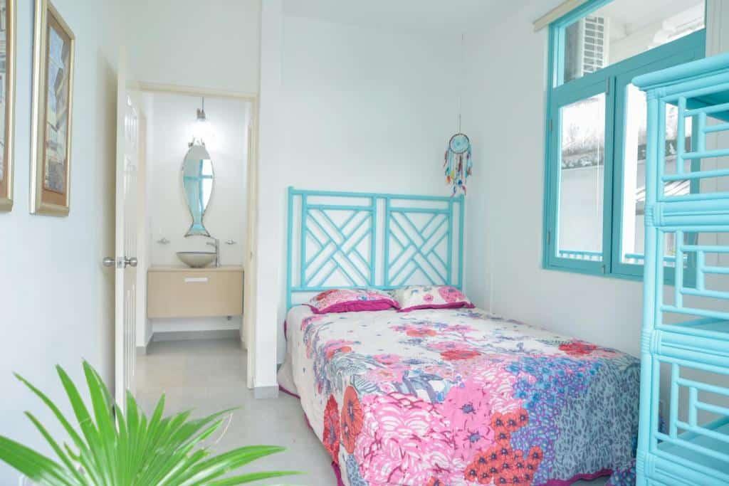 bedroom of apartment 2A in Flor de Lirio Casco Viejo