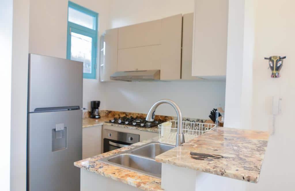 kitchen of  apartment 2A in Flor de Lirio Casco Viejo
