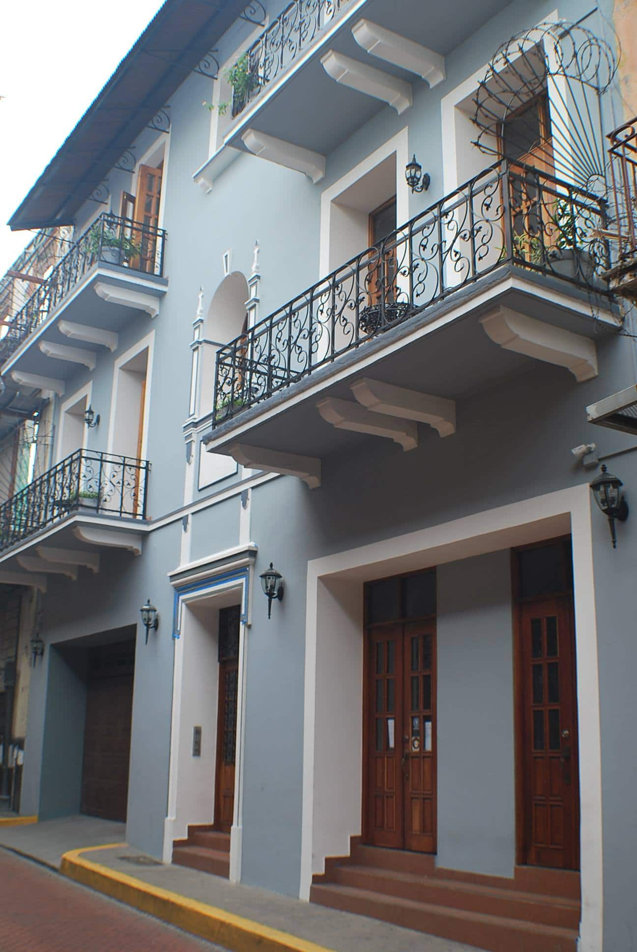 Exterior balconies of La Isabela Suites in Casco Viejo Panama
