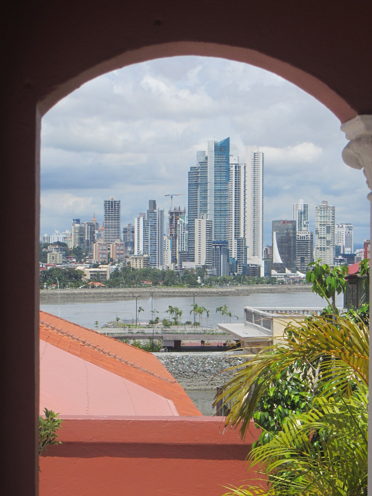 view of the Panama city skyline from La Isabela Suites