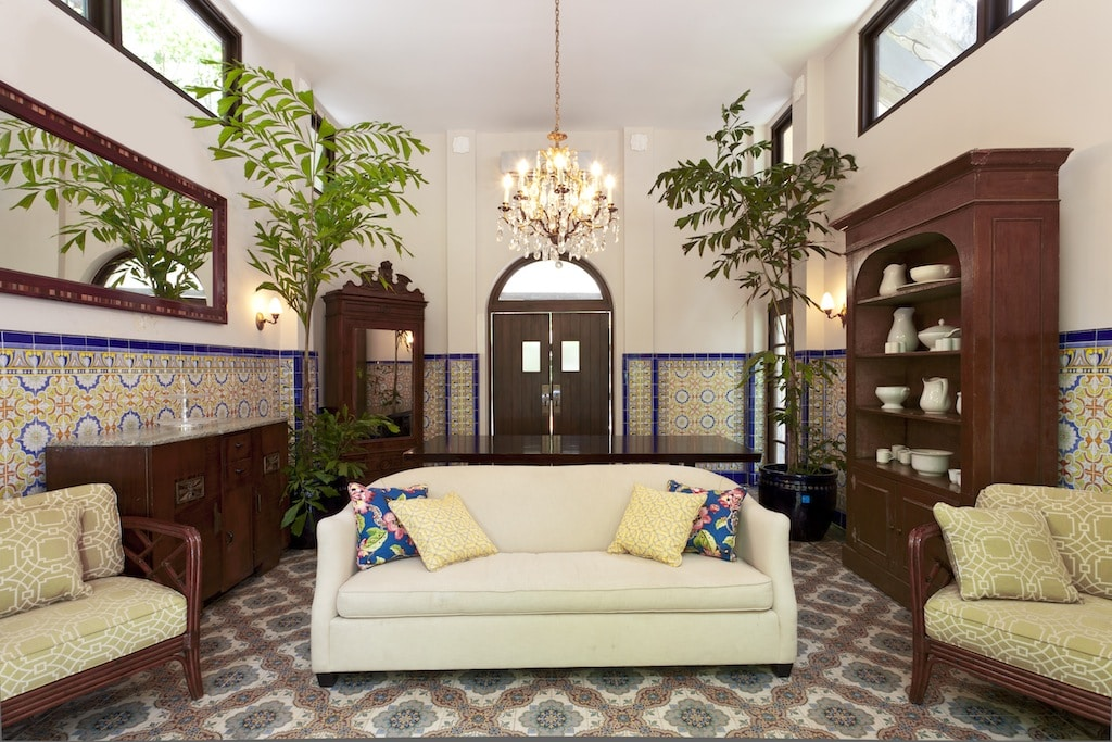 Las Clementinas Hotel has incredible tiles on its floors and walls