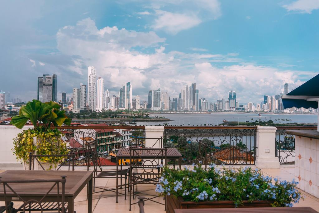 Views of Panama City from the rooftop of Las Clementinas Hotel