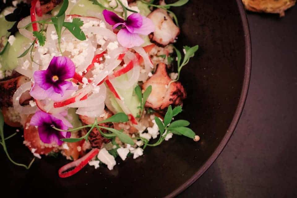 Octopus salad at  Lazotea Restaurant and Rooftop