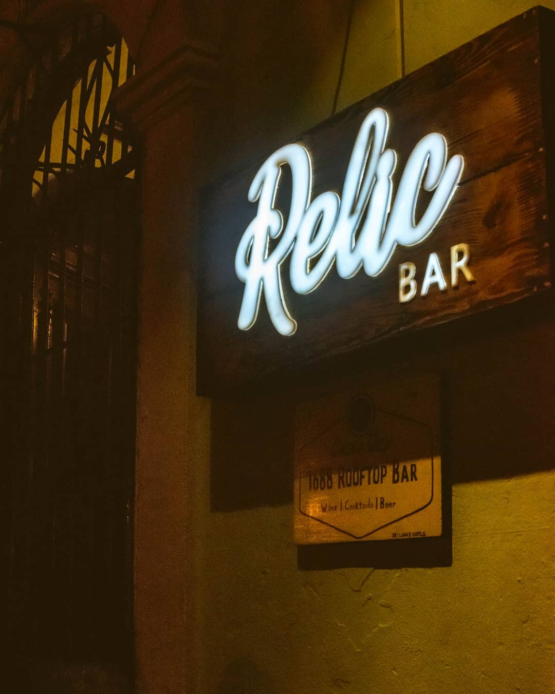 Relic Bar is hidden inside Luna's Castle Hostel