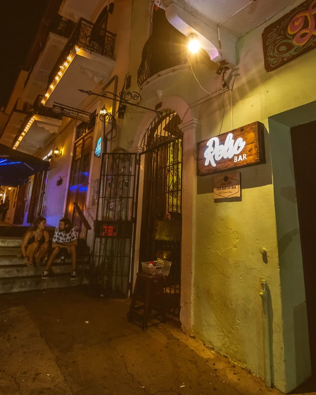 relic bar is in luna's castle hostel in casco viejo