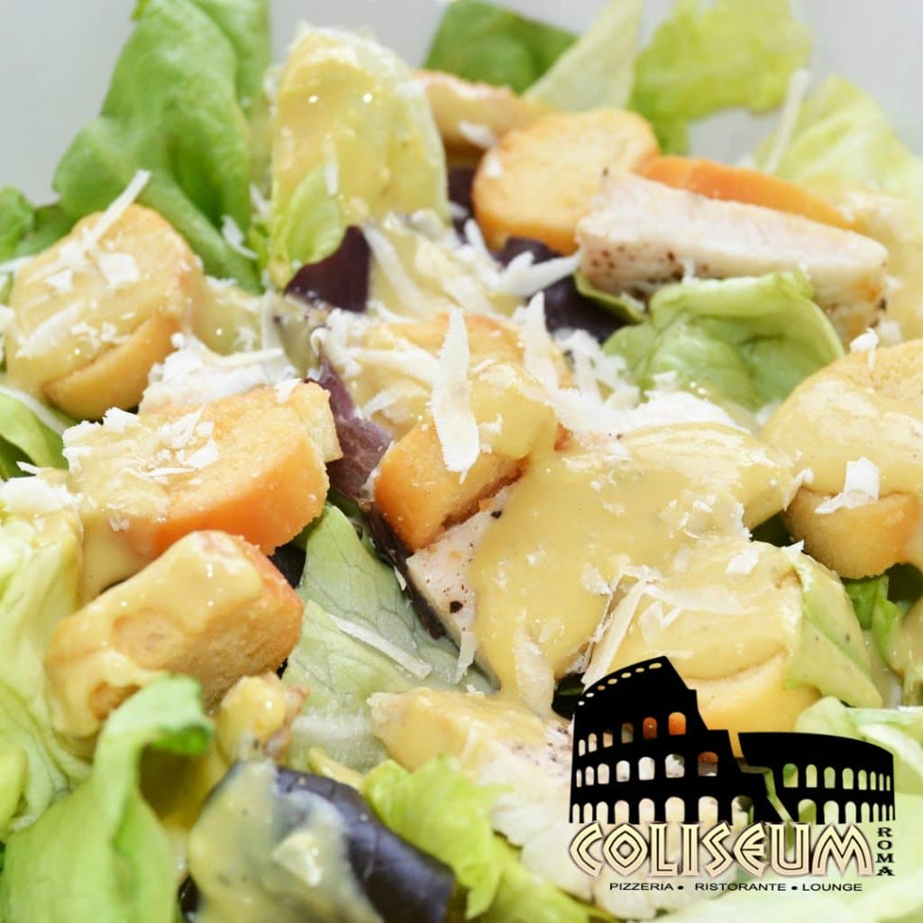 Cesar salad at Coliseum Roma Restaurant