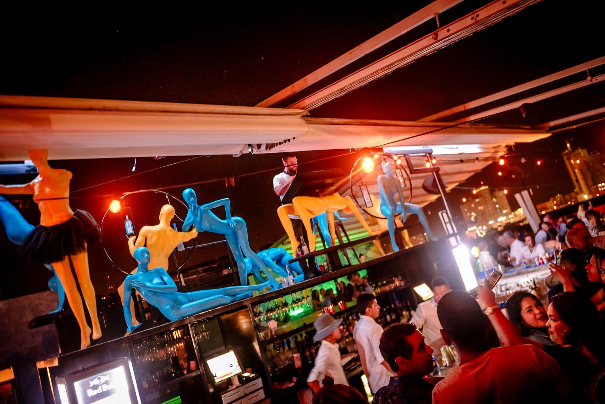 Tantalo Rooftop Bar has eccentric decoration