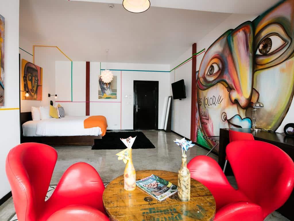 Habitación Be Color en el Hotel Tantalo